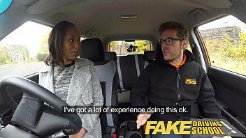 Fake Driving School Pretty black girl seduced by driving ins