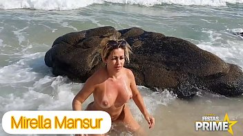Enjoying the beaches of Rio without any clothes on - Mirella Mansur