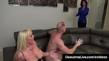Busty Mothers Deauxma & Alexis Golden - Interracial Foursome