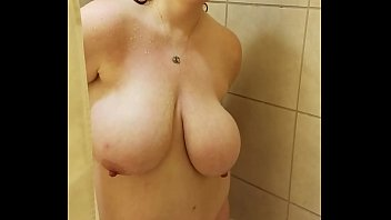 Bbw huge tit wife in the shower 2