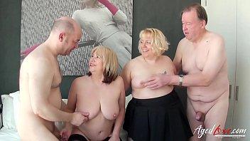 AgedLovE Two guys and Two Ladies Hardcore Sex porno izle