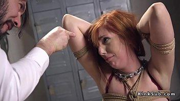 Cheated husband anal bangs huge tits redhead