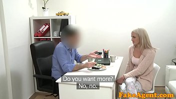 Couch interviews sex - Fake agent hot blonde model loves cock over the desk with her sushi