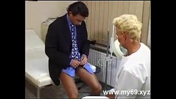 Blonde german mature nurse sucks patient after treatment Busty Milf