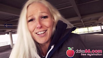 HORNY GERMAN Blonde Cam Angel BANGED in PUBLIC by random date! (ENGLISH) Dates66.com