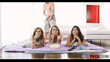 Busty besties make their own dirty movie