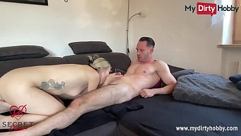 MyDirtyHobby - Gorgeous blonde gets a huge cumshot on her glasses