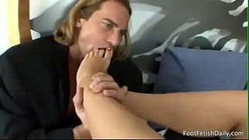 Foot Cum lick 7af pt1- more at scarletporn.com