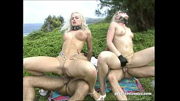 Blonde model gets fucked hard Sex slaves are fucked hard in the ass.