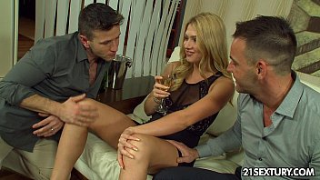Thick young sex three way vids - Grandma sue lures a way younger guy between her legs