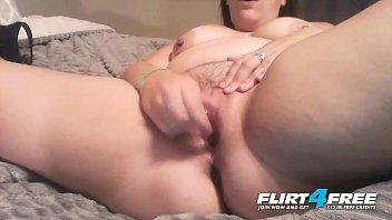 Horny Nicky - Flirt4Free - Chubby Babe w Big Natural Titties Creamy Pussy Orgasm