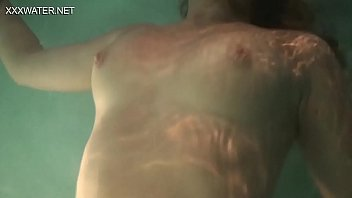 Slightly hairy teen Olga Kukuruzina masturbates in the pool