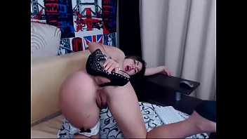 Euro Girl fucks herself with a shoe and spits all over her body pfunder