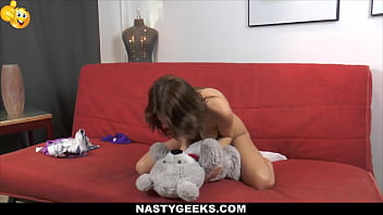 Teen Sucks Her Teddy Bear's Cock thumbnail