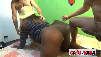 June party with naughty black maid