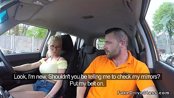 10114 Driving student gets cum on her glasses in car preview