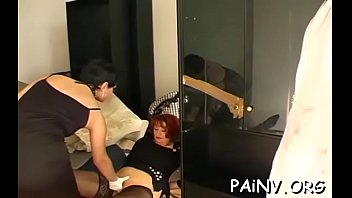 Spanked hard while fucking video One beauty gets fucked while another gets bizarre humiliation