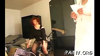 One beauty gets fucked while another gets bizarre humiliation