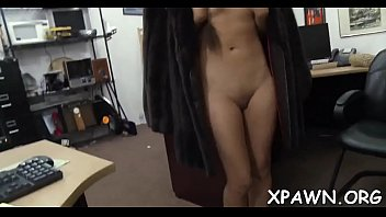 Nude little non-professional is paid to disrobe naked and then fuck
