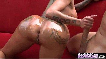 (bella bellz) Curvy Oiled Butt Girl Enjoy On Cam Anal Sex video-08