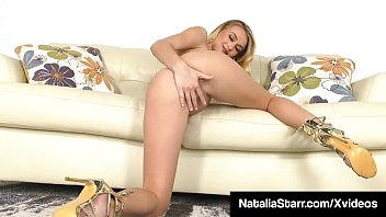 Blonde Beauty Natalia Starr Fucks Her Sweet Snatch With Toy!