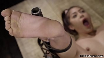 Asian Squirter Fucked In Device Bondage