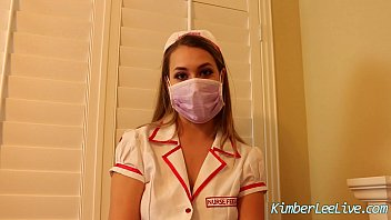 Rubber glove blowjob video - Nurse kimber lee gives handjob in her purple latex gloves