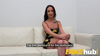Fake Agent Hot sexy slim model Freya Dee sucks and fucks to orgasm