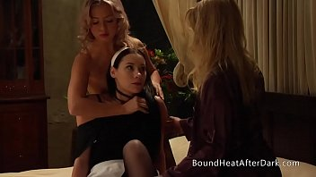 Voyeur Lesbian Maid Caught Spying And Forced To Join In Threesome