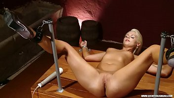 Blonde Mia is worshipped and forced to orgasm