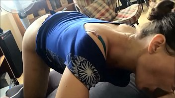 T&A 176 - Fucking Blonde Milf in Blue UpSkirt , Black Panty, Heels