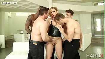 AJ APPLEGATE, DAHLIA SKY, KEISHA GREY uncensored beautiful in gangbang