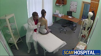 Super sexy brunette Jess fucked by her doctor in anvil position
