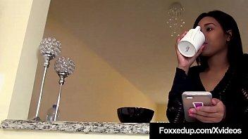 Black Beauty Jenna Foxx Tongues Cristi Ann's Hot Cookie!