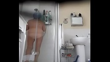 Spy cam of Granny in the shower