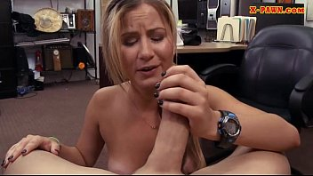 Cutie waitress drilled by nasty pawn guy