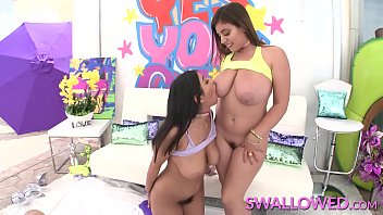 SWALLOWED Dream team blowjob from Ella and Violet
