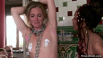 Chained slut anal banged at private party