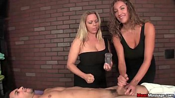 meanmassage-Two bossy ladies tag-team a poor young man preview image