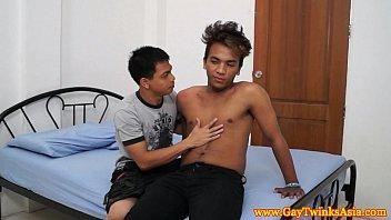 Asian twink teen goes down on boy friend