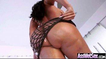 (Kiara Mia) Big Wet Cury Butt Girl Take It Hard In Ass Clip-19