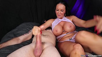 40 over tit Milf handjob while playing with her pussy - over 40 handjobs