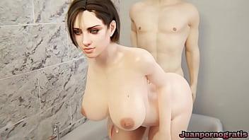 Jill valentine enjoying in the bathtub Resident Evil