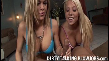 How to talk dirty to your partner cock I brought my blonde friend to help milk your cock