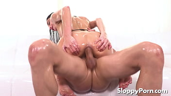 Oiled anal with lubed Emily Willis thumbnail