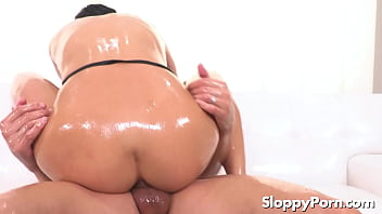 Oiled anal with lubed Emily Willis
