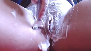 Sexy shaving pussy video want to shave your cock with me?