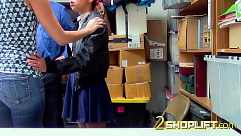 Outraged milf gets banged to pay for teens shoplifting crimes