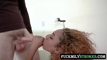 Sexy and gothic stepdaughter Brixley Benz thanks her kinky and handsome stepdad with her wet pussy shaking that hard cock