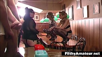 Two very docile bitches get humiliates and slummed in every way